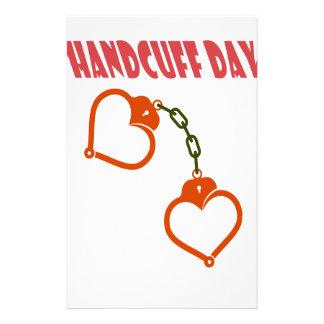 Handcuff Day - Appreciation Day Custom Stationery