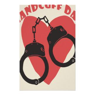Handcuff Day - Appreciation Day Stationery Design