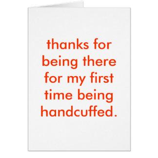 handcuffed card