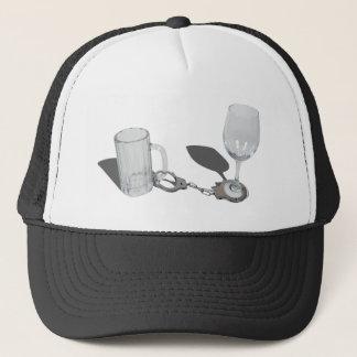 HandcuffsBeerSteinWineGlass112611 Trucker Hat