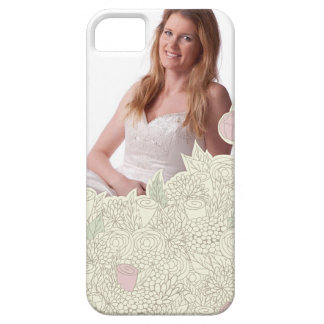 Handdrawn flower border iPhone 5 cases
