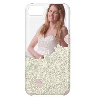 Handdrawn flower border iPhone 5C cases