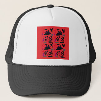 HANDDRAWN LACE VINTAGE ORNAMENTS. ENJOY ART TRUCKER HAT