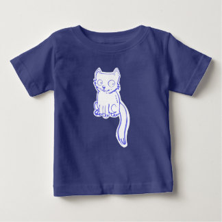 handdrawn sweet kitty cartoon baby T-Shirt