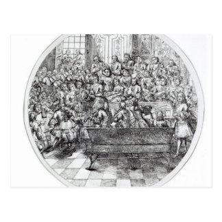 Handel conducting an oratorio c 1740 post card