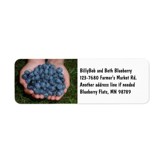 Handful of Fresh Blueberries Return Address Label