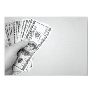 Handful of Money 3.5x5 Paper Invitation Card