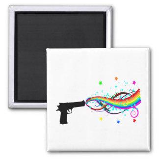 Handgun Shooting Stars & Rainbows Refrigerator Magnets