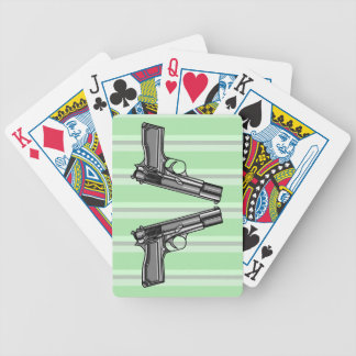 Handguns, Pistols, Firearms Bicycle Playing Cards