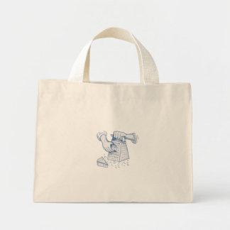Handheld Cheese Grater Grating Watercolor Mini Tote Bag