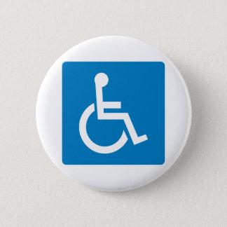 Handicap Accessibility Highway Sign 6 Cm Round Badge