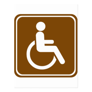 Handicap Accessible Recreational Facilities Sign Postcard