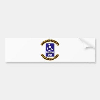 Handicap Insignia,Handicap sign,handicapped tag,ha Bumper Stickers
