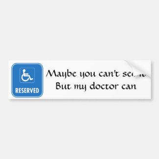 Handicap Parking Sign Bumper Sticker