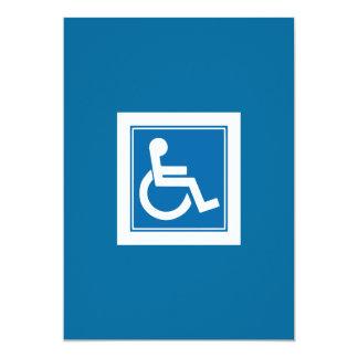 Handicap Sign Invitation