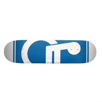 Handicap Sign Skateboard