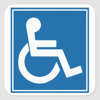 Handicap Sign Stickers
