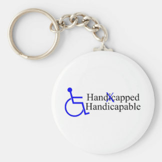 Handicapped Handicapable 2 Key Ring