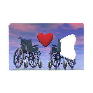 Handicapped persons love - 3D render