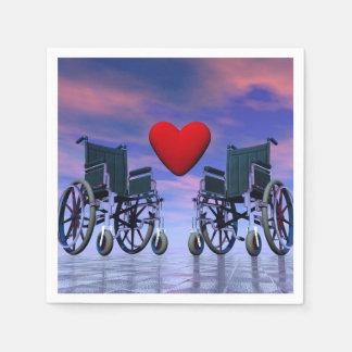 Handicapped persons love - 3D render Disposable Napkins