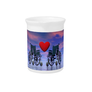 Handicapped persons love - 3D render Pitcher