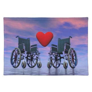 Handicapped persons love - 3D render Placemat