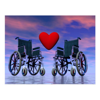 Handicapped persons love - 3D render Postcard