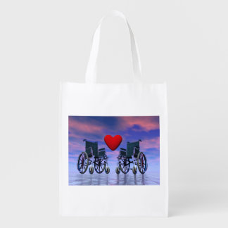Handicapped persons love - 3D render Reusable Grocery Bag