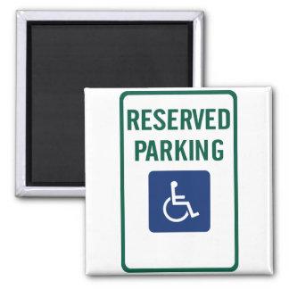 Handicapped Reserved Parking Highway Sign Magnet