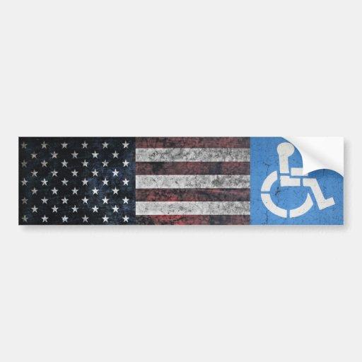 Handicapped Veteran. Bumper Sticker