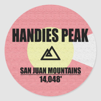 Handies Peak Classic Round Sticker