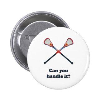 Handle It Lacrosse Pinback Button