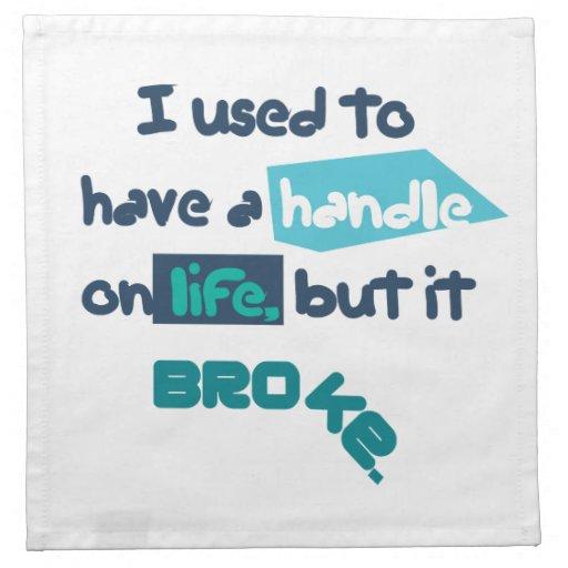 Handle On Life Cloth Napkin
