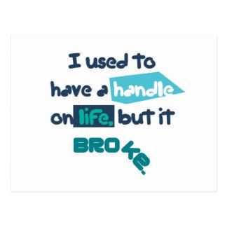 Handle On Life Postcard