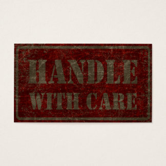 handle with care business card