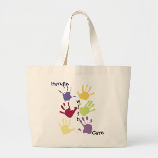 Handle With Care Large Tote Bag