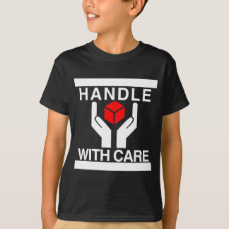 Handle With Care Red & White Logo T-Shirt