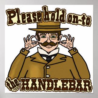 Handlebar Mustache Gentleman Poster