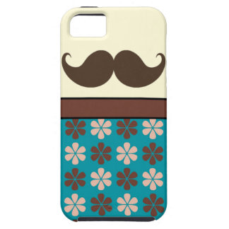 Handlebar Mustache on Retro Background Tough iPhone 5 Case