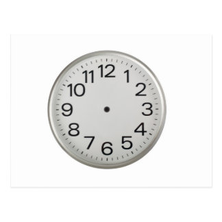 Handless clock postcard