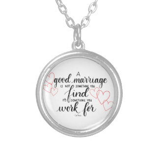 Handlettered Marriage Quote Necklace