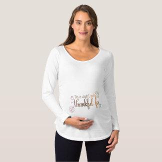 Handlettered Thanksgiving Maternity Shirt