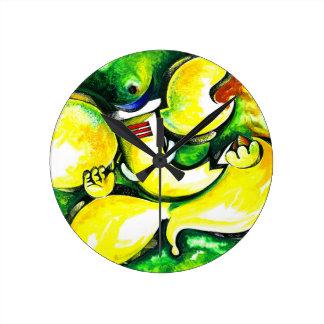 Handmade Abstract Painting of Lord Ganesha Wallclock