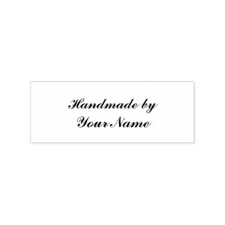 Handmade add name rubber stamp
