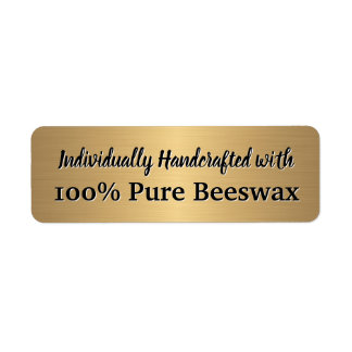 Handmade Beeswax Candle Return Address Label