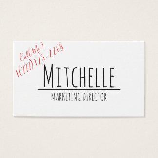 Handmade Business Card