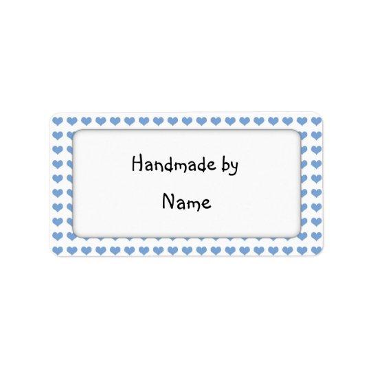 Handmade by - customisable label address label