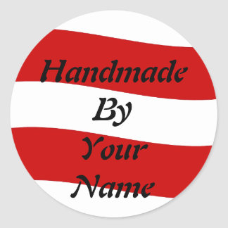 Handmade  by Template Classic Round Sticker