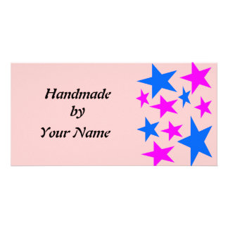Handmade by Template Personalised Photo Card