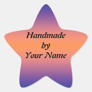 Handmade  by Template sticker Star Sticker